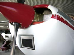 Composite Cowling Category 4 front view with KNN Air filter installed.