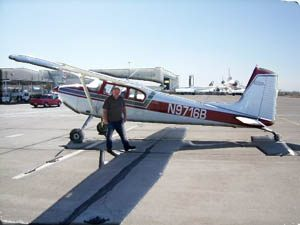 President Dave Loque with Selkirk Aviation's 1957 Cessna 180