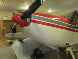 1953 Cessna 180 Cowling - Side View