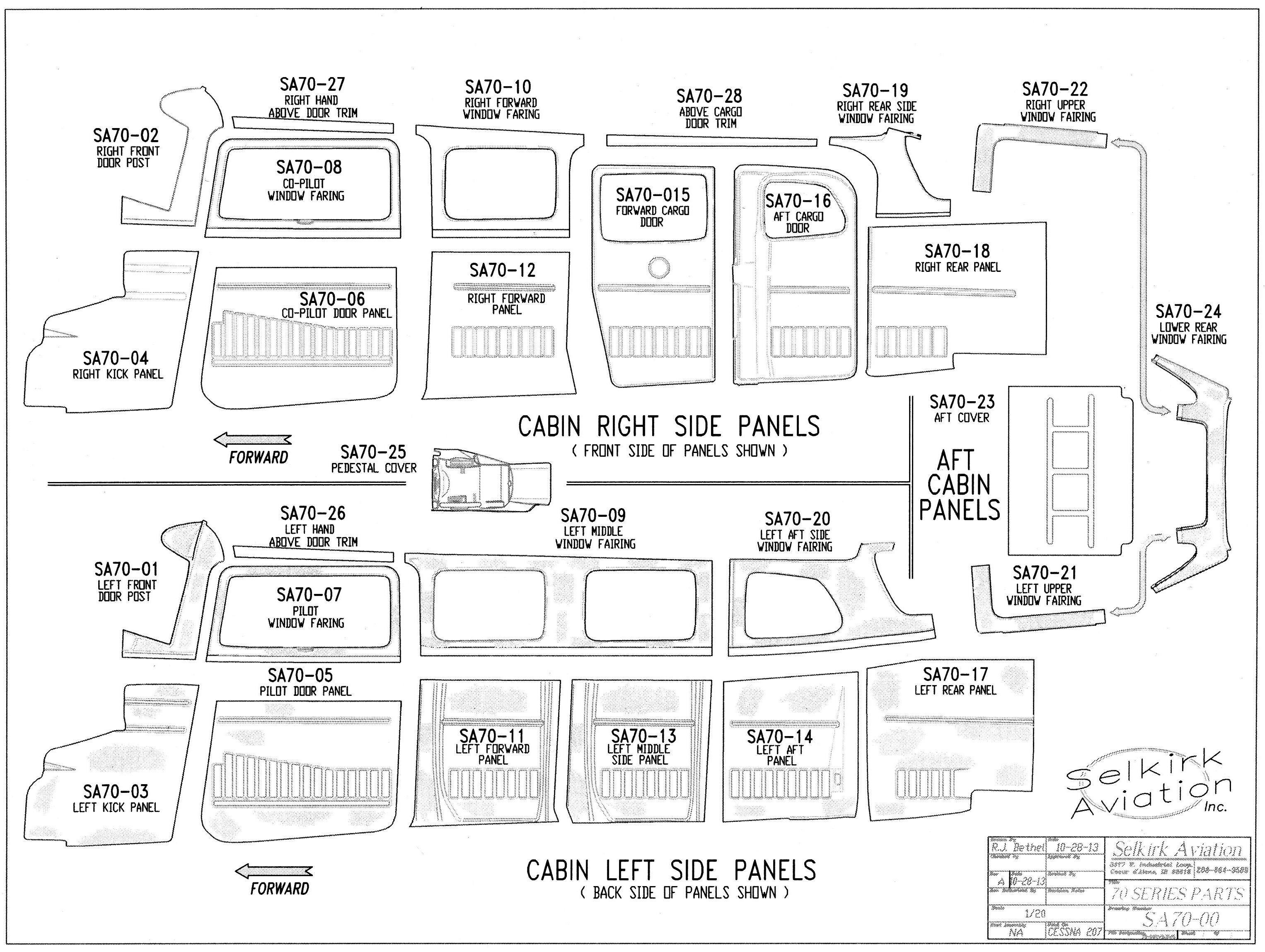 Airplane Interior Parts